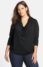 NWT MICHAEL KORS 3X  LONG SLEEVE STUDDED COWL NECK BLOUSE  TOP PLUS SIZE