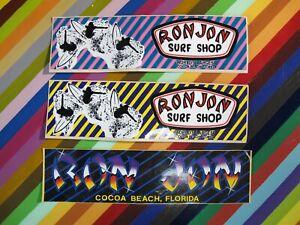 vtg 1980s Ron Jon surf street sticker - Surf Shops stickers and postcards