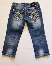 Miss Me Capri Jeans Size 27 Embellished Pockets