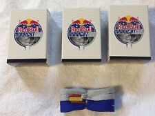 3Boxes Red Bull Shoe Laces Mid Night 1grey red tip 1blue yellow tip per bo 66/in