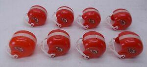 Lot of 8 Vintage Kansas City Chiefs Mini Gumball Football Helmet NFL