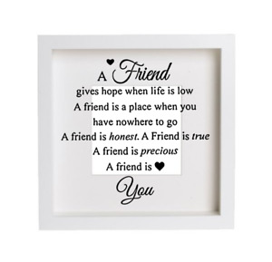 Vinyl Decal/Sticker FOR Ribba Frame Glass Block A FRIEND GIVES HOPE BEST FRIEND