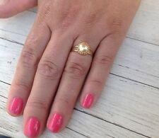 "Crystal ""Swarovski"" Gold Pearl Sizeable Ring Women Fashion"