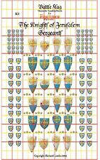 Knights of Jerusalem Sergeants. Official Fireforge Decals with Battle Damage
