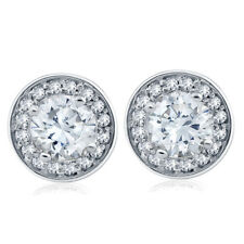 1 cttw Halo Diamond Studs 14k White Gold