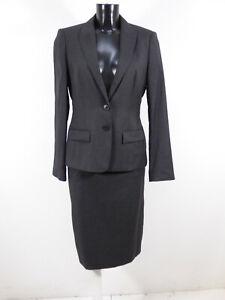 HUGO BOSS Damen Kostüm Gr 38-40 DE / Grau Business und Neuwertig  ( R 6841 )