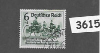 #3615  Germany 1939 Berlin Auto Show - Nurburgring Overprint Sc B141   PF06 + 04