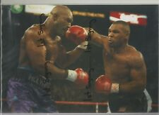 Mike Tyson v Evander Holyfield unsigned photo 12x8 inches ref:1139
