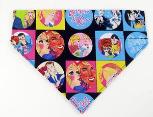 Barbie Dog Bandana, Over the Collar dog bandana, Dog collar bandana, puppy