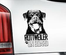 Rottweiler Sticker, Rottie Dog Window Decal Car Stickers Gift Bumper Sign V06BLK
