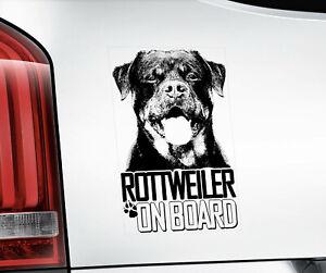 Rottweiler Sticker, Rottie Dog Decal Car Bumper Sticker Sign Gift Idea - V06BLK