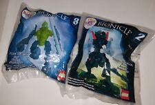 Lot 2 Lego Bionicle Mistika Toa Onua #2 & Toa Lewa #8 McDonald's Happy Meal Toy