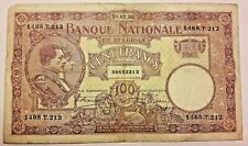 100 Francs, 1925, KM:95 Belgique 100 Frank Belgïe Belgium Banknote