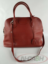 BIGSALE! AUTHENTIC $6500 HERMES Bolide 35 Clemence Leather Rogue Garance Bag