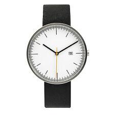 BIJOUONE Silver/White Leather Strap Casual Classic Quartz  luxury wrist watch