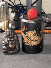 🔥Scarce Vintage Fantasma Leather Buddha Magnetic Chop Cup By Fanntasma Magic🔥