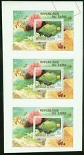 Zaire 1980 Tropical Fish SS imperf proof strip of 3 -2