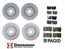 Mercedes CL55 S55 AMG 03-06 Zimmermann Full Disc Brake Rotors & Pagid Pads Kit