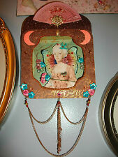 Large Marie Antoinette Shadowbox with Swarovski crystals. Cottage Chic. OOAK
