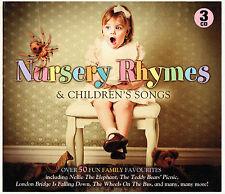 WONDERFUL NURSERY RHYMES & CHILDREN'S SONGS TRIPLE CD BOX SET BRAND NEW FREE P&H