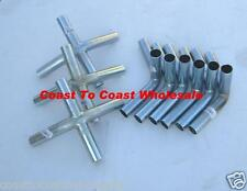 10x20 Canopy Tent Car Sport High Peak Fittings (connectors) Only + 6 FP, Steel