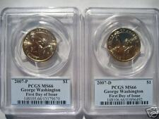 2007 P & D Washington Dollar PCGS MS66 First Day Set