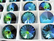 6 Crystal Green Sphinx Swarovski Rivoli Stone 1122 14mm