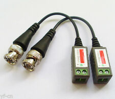 50pcs (25pairs) Camera CCTV BNC Male CAT5 Video Balun Transceiver Cable NEW UK