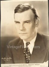 ABRAHAM LINCOLN, original 1930 Portrait Still, DW GRIFFITH, Walter HUSTON is Abe