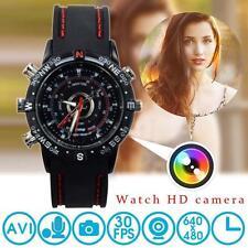 Mini 8gb DVR impermeable HD Espía Oculto Reloj Cámara Vídeo T[