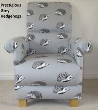 Prestigious Hedgehogs Flint Grey Fabric Adult Chair Armchair Animals Nursery New