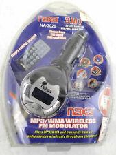 Naxa NA3026 FM Modulator/Transmitter MP3/WMA Includes Full Function Remote +SD