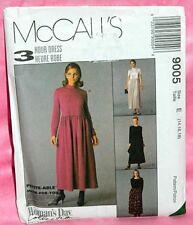 Uncut McCalls 3 Hour Sz 14-18 Easy Fit Long or Short Sleeve Dress Pattern 9005