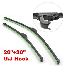"All Season Combo 20""+20"" U/J Hook Bracketless Windshield Wiper Blades C01"