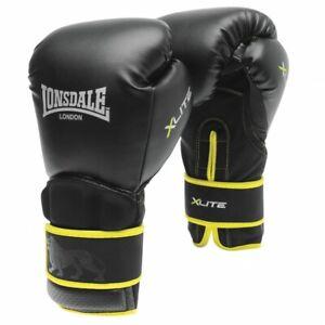 Lonsdale XLITE Mens Black/Lime 14oz Training Boxing Gloves