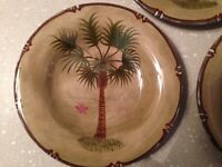 Handpainted Tabletops Unlimited BORA BORA Dinner Plate New wTag! Mint Condition