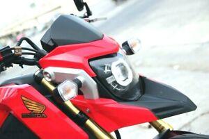 FRONT MOTARD FENDER FAIRING SET RED BLACK FIT FOR HONDA GROM 125 MSX 2012-16