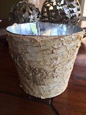 WOOD vase wedding flower pot center piece log home decor personalize BIRCH TREE