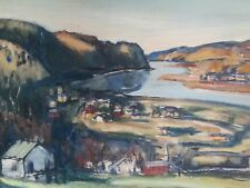 Authentic Walter Emerson Baum Original Painting on board titled folding hills