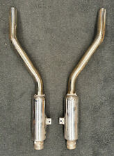 Jaguar Rear Stainless Steel Silencers for E-Type Series 2 (Pair)