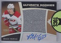 Brock McGinn 2015-16 Ultimate Collection Rookie Jersey Auto 125/149 Hurricanes