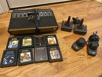 Vintage Atari Video Computer System Model CX2600-6 Switches-4 Controllers-8 Game