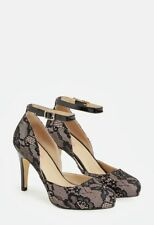 JustFab- Haleecie black lace pumps- 6- NIB
