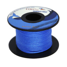 Blue Braided Dyneema Cord 100ft 100lb Camping Hiking Kite String Outdoor Sports