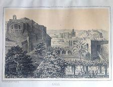 ANDALUCÍA, ALMERÍA, Litografía original de Parcerisa 1839-1865