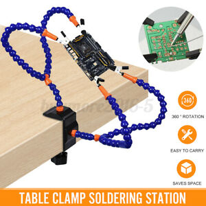 4 Jaws Soldering Welding Station Holder PCB Bracket Workshop Flexible Clamp
