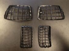 Indicator grille / stone guard in black (set of 4) for Vespa PX / LML Star