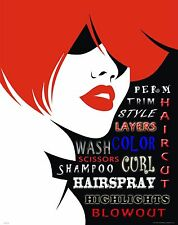 Hair Salon Stylist Motivational Poster Art Print Hairdresser Cape Gift MVP548