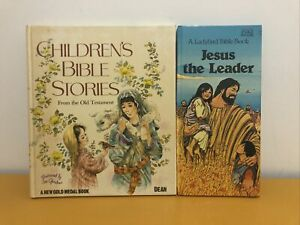 Vintage Childrens Bible Books :Stories From The Old Testament & Jesus The Leader