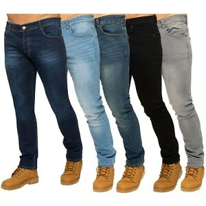 ENZO Designer Mens Skinny Stretch Jeans Slim Fit Denim Trousers Pants All Sizes